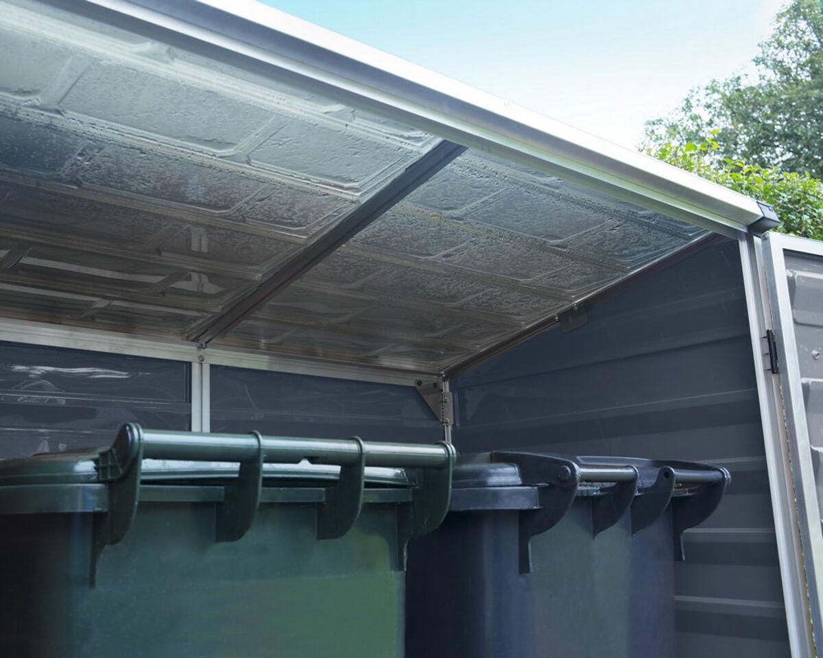 Bild 2 von Palram Mülltonnenbox und Aufbewahrungsschrank Voyager grau