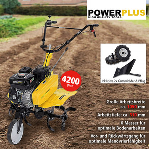 Powerplus 2in1 Bodenfräse 7217, 4200 W