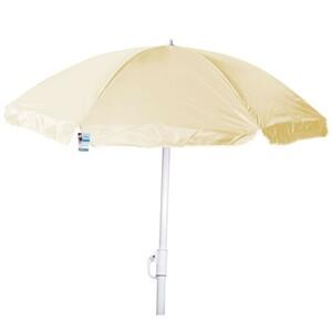 Sonnenschirm mit Knick Ø180cm beige Nylon Strandschirm Sonnenschutz