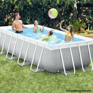 Intex XXL Swimming Pool rechteckig mit Rahmen und Leiter