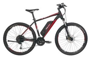 Fischer e-bike Mountainbike EM 1726 27,5 Zoll signalschwarz matt