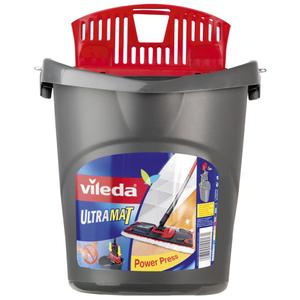 Vileda Ultramat Eimer mit Wringeinsatz Power-Press-Funktion  für Bodenwischer  des Reinigungssystems
