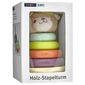 "IDEENWELT Holz-Stapelturm ""Bär´´"