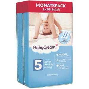 Babydream Windeln Monatspack Junior Größe 5, 10-16 kg