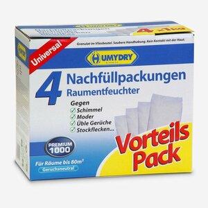 """Humydry -              Humydry Nachfüllpackungen für Raumentfeuchter """"Premium 1.000"""" 4 Stück"""
