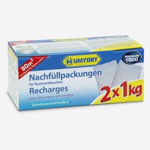 """Nachfüllpack """"Premium 1000"""" für Raumentfeuchter 2x 1 kg"""
