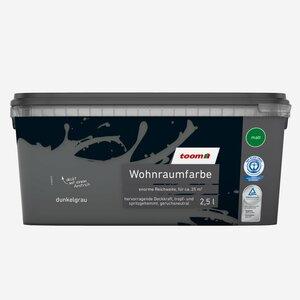 toomEigenmarken -              toom Wohnraumfarbe 'Dunkelgrau'  2,5 l matt