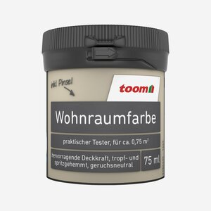 toomEigenmarken -              toom Wohnraumfarbe 'Sand'  0,075 l matt