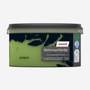 toomEigenmarken -              toom Wohnraumfarbe 'Grasgrün' 1 l matt