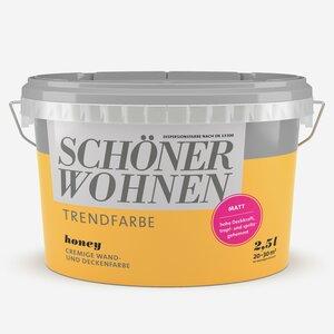 SchoenerWohnen -              Schöner Wohnen Wand- und Deckenfarbe Trendfarbe 'Honey' honiggelb matt 2,5 l