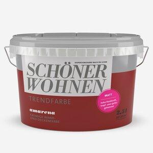 SchoenerWohnen -              Schöner Wohnen Wand- und Deckenfarbe Trendfarbe 'Amarena' kirschrot matt 2,5 l