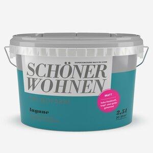 SchoenerWohnen -              Schöner Wohnen Wand- und Deckenfarbe Trendfarbe 'Lagune' petrolblau matt 2,5 l