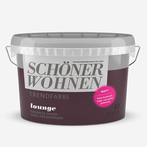 SchoenerWohnen -              Schöner Wohnen Wand- und Deckenfarbe Trendfarbe 'Lounge' purpurviolett matt 1 l