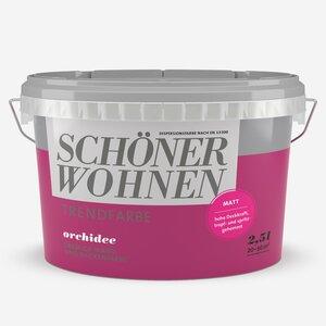 SchoenerWohnen -              Schöner Wohnen Wand- und Deckenfarbe Trendfarbe 'Orchidee' dunkelpink matt 2,5 l