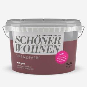 SchoenerWohnen -              Schöner Wohnen Wand- und Deckenfarbe Trendfarbe 'Napa' weinrot matt 2,5 l