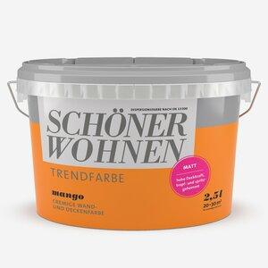 SchoenerWohnen -              Schöner Wohnen Wand- und Deckenfarbe Trendfarbe 'Mango' orange matt 2,5 l