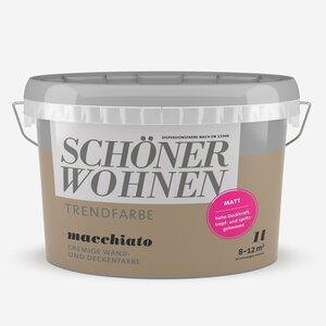 SchoenerWohnen -              Schöner Wohnen Wand- und Deckenfarbe Trendfarbe 'Macchiato' milchkaffeebraun matt 1 l