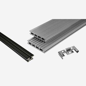 Kosche -              Kosche Terrassendielenpaket 'Kovalex' WPC 300 x 400 cm grau