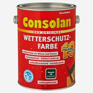 Consolan -              Consolan Wetterschutzfarbe moosgrün 2,5 l
