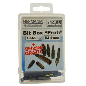 Bitsatz 10teilig S2 Stahl Bitset Bitbox Schnellwechsel Bithalter Bit Set