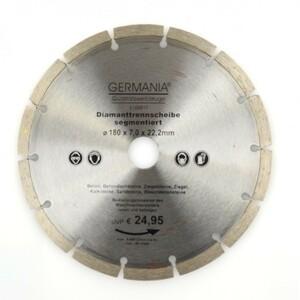 Diamanttrennscheibe 180x2,4x22,2mm segmentiert Beton Ziegeln Sandsteine