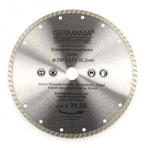 Diamanttrennscheibe 230x2,7x22,2mm Turbo Granit Beton Stein Trennscheibe