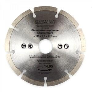 Diamanttrennscheibe 125x2,0x22,2mm segmentiert Beton Ziegeln Sandsteine