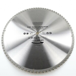 HM Multi Sägeblatt 700x30mm 80Zähne universal Alu Holz Kunststoff Kreissägeblatt