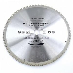 HM Multi Sägeblatt 350x30mm 60Zähne universal Alu Holz Kunststoff Kreissägeblatt