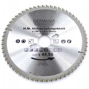 HM Multi Sägeblatt 190x30mm 60Zähne universal Alu Holz Kunststoff Kreissägeblatt