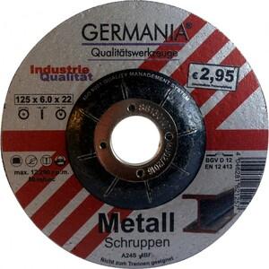 Schruppscheibe Metall 125x6,0 bombiert Industriequalität Schleifscheibe