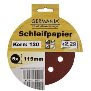 Schleifscheibe Schleifpapier Korn 120 115mm 5er
