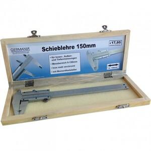 Messschieber 150x0,02mm in Holzbox Schieblehre