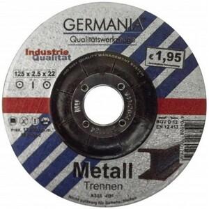 Trennscheibe Metall 125x2,5 bombiert Industriequalität Trennen