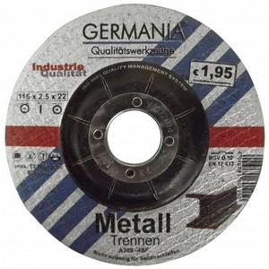 Trennscheibe Metall 115x2,5 bombiert Industriequalität Trennen