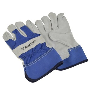 Arbeitshandschuhe Leder Gr. 9 blau/weiß Handschuhe