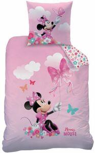 Minnie Mouse -  Kinderbettwäsche - 2- teilig Decke 135 x 200 cm, Kissen 80 x 80 cm