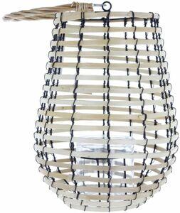 Windlicht - aus Bambus - 25 x 30 cm