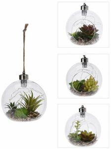 LED-Dekohänger - aus Glas - Ø = 12 cm - 1 Stück