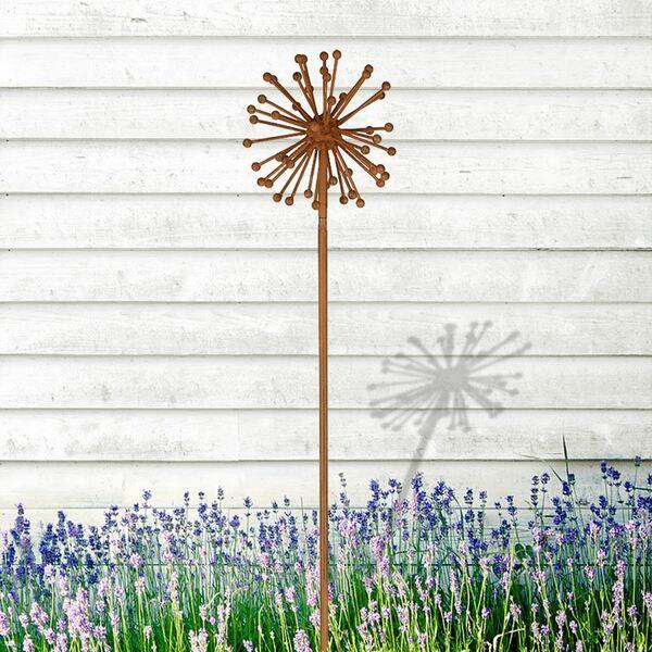 Gartenstecker Allium in Rostbraun 100cm