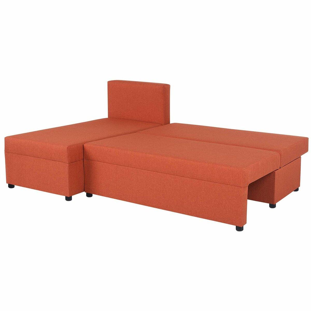 Bild 2 von Ecksofa - orange - Webstoff - mit Liegefunktion