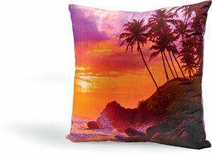 Dekor Fotodruck Dekokissen ca. 40 x 40 cm - Sonnenuntergang