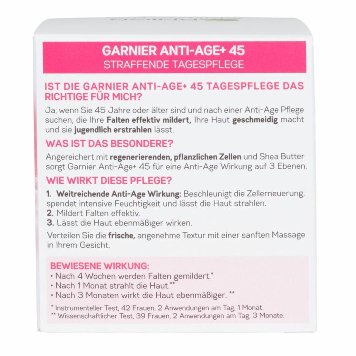 Bild 5 von Garnier SkinActive Anti-Age und Straffung 45 Jahre Tagespflege 50ml