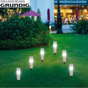 Grundig LED-Solar-Gartenleuchten 6er-Set