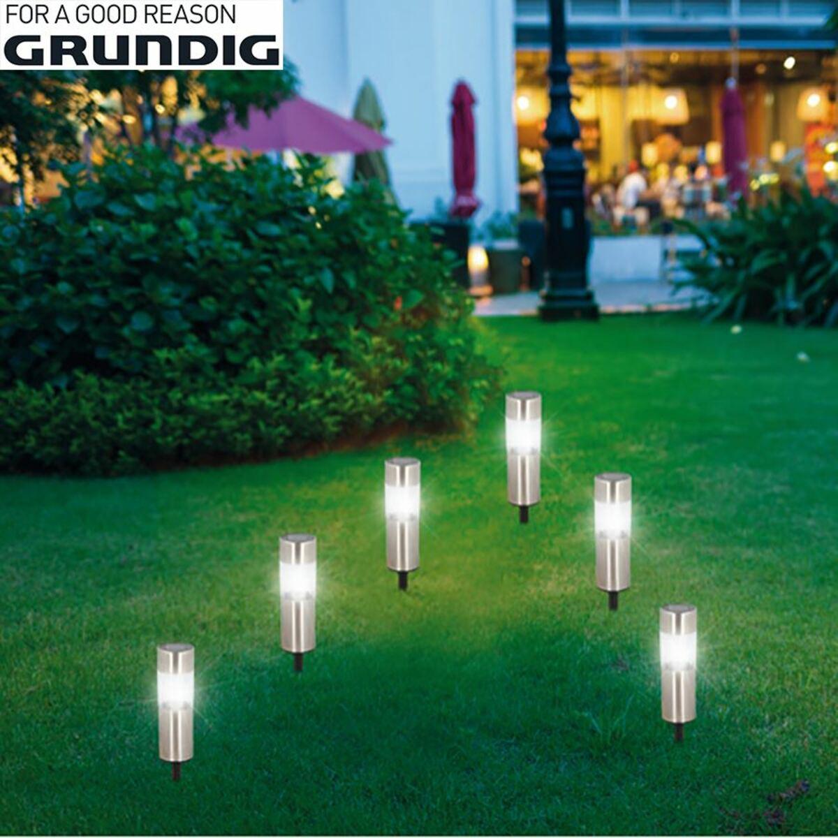 Bild 1 von Grundig LED-Solar-Gartenleuchten 6er-Set