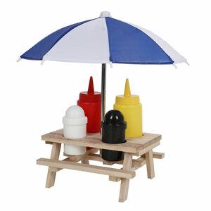 Menage-Set im Picknicktischständer 6-teilig