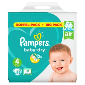 Pampers BABY DRY Windeln Gr.4 Maxi 9-14kg Doppelpack 68ST