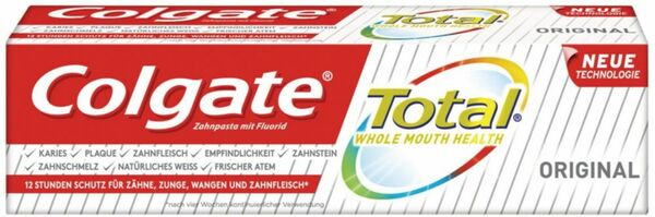Colgate Total Original Zahnpasta Relaunch, 75ml