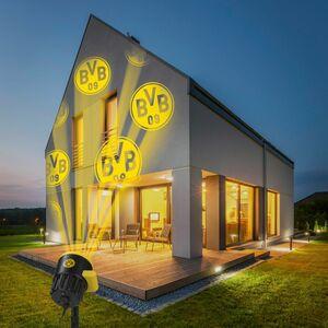 BVB LED-Motivstrahler 7,5W schwarz mit Logo