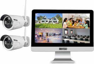 "WLAN Komplettset 4-Kanal Netzwerkrekorder mit 25,4 cm (10"" Zoll) LCD-B ..."